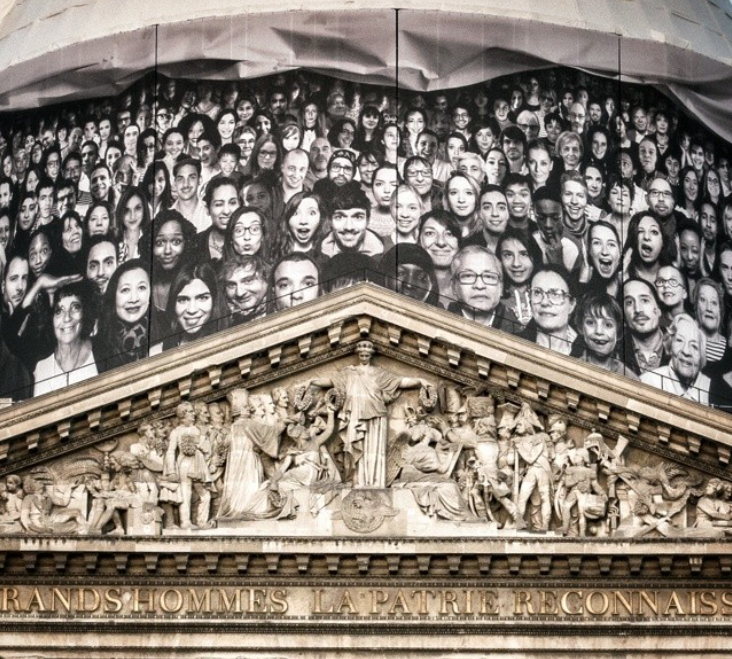 Pantheon is transformed by street artist JR