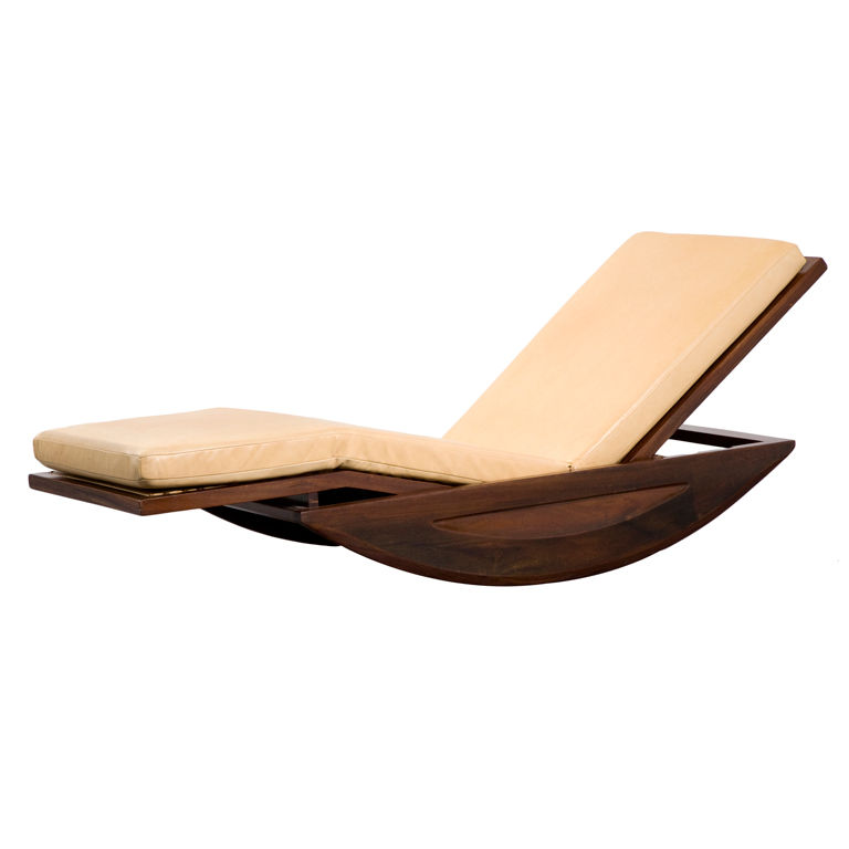 Chaise Lounge Rocking Chair by Joaquim Tenreiro