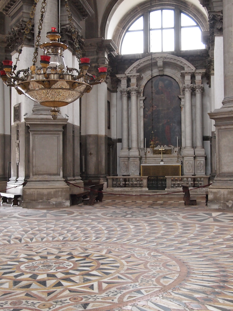 Church interior in Venice.