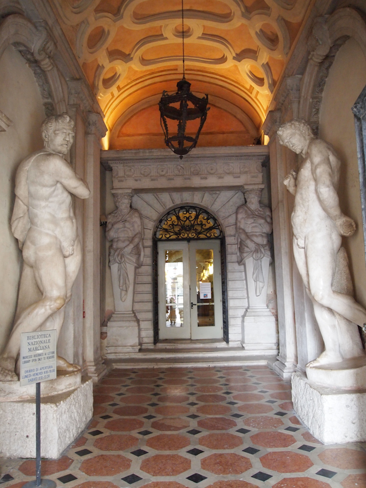 Entrance to a library in Venice.