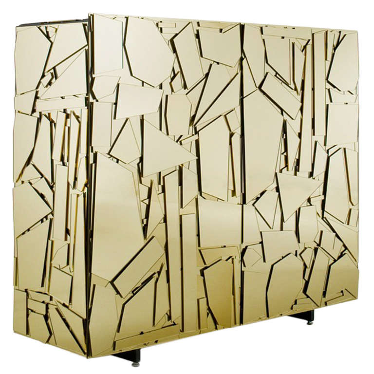 Lucite mirrored cabinet by Fernando and Humberto Campana, 2006. Favela industriousness meets uptown chic.