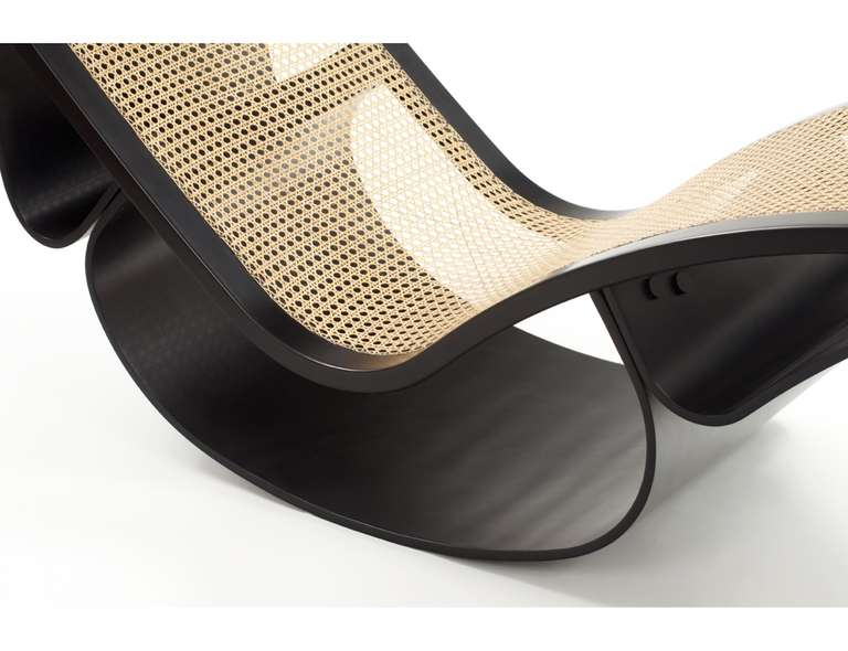 Rio Chaise Lounge, designed in 1978 by Oscar Niemeyer, detail view