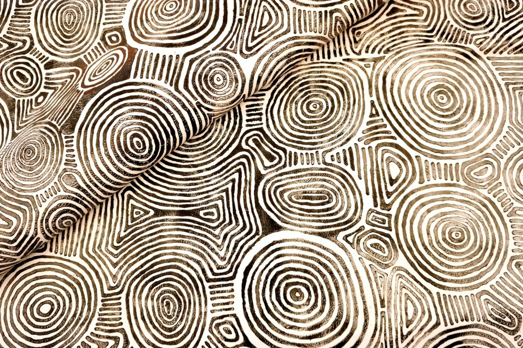 Hand painted aboriginal patterns