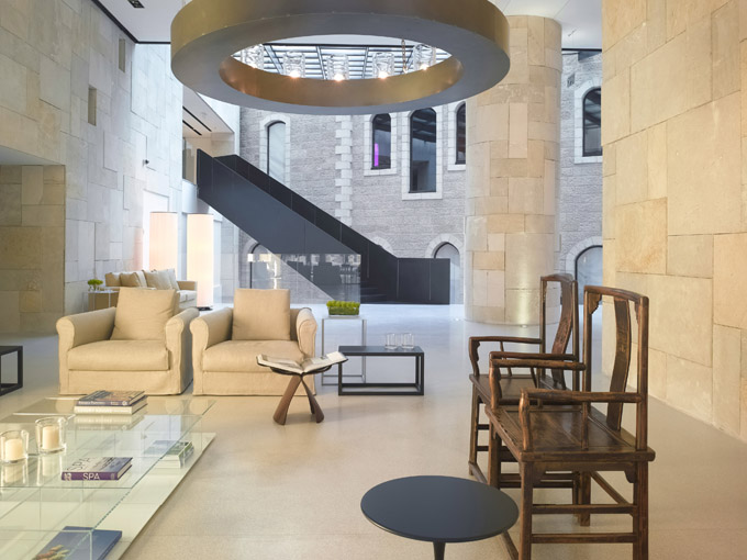 Hotel Mamilla in Jerusalem, interiors by Piero Lissoni. Such a beautiful building and interior in a beautiful city.