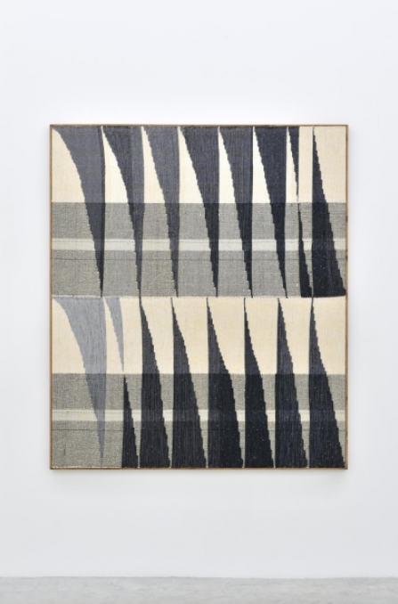 "Handwoven tapestry by Brent Wadden, ""Alignment 48"", 2014."