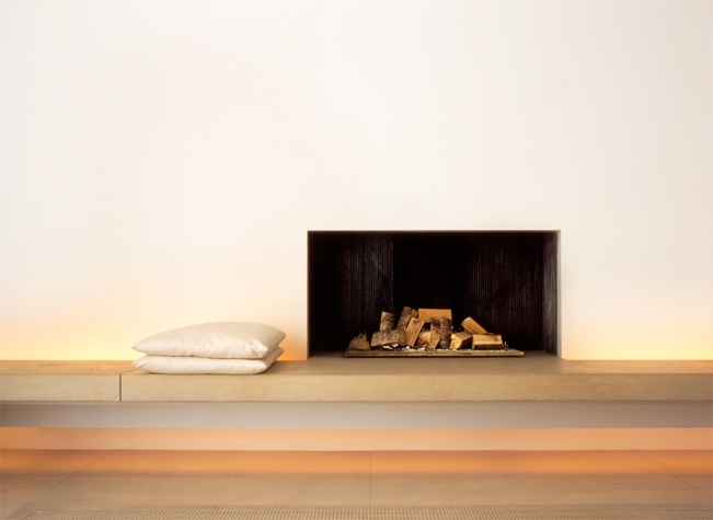 Minimal fireplace by John Pawson.