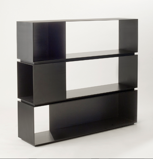 Mr.3H Blackened Steel Bookcase by MR ARchitecture + Decor