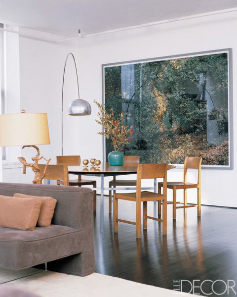 View of Julian Moore's Tribeca dining room.