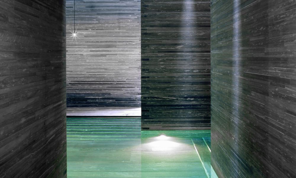 Therme Vals, Maze-like indoor swimming pool