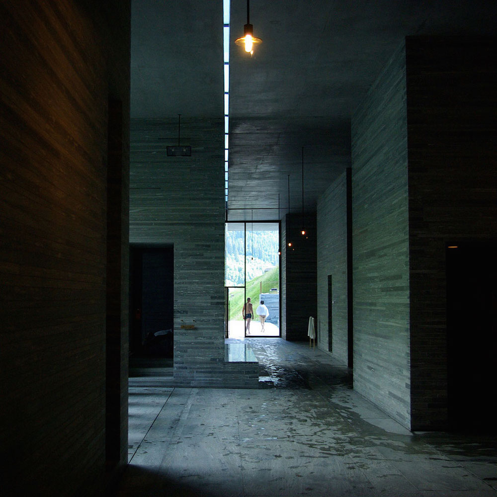 Therme Vals, hallway