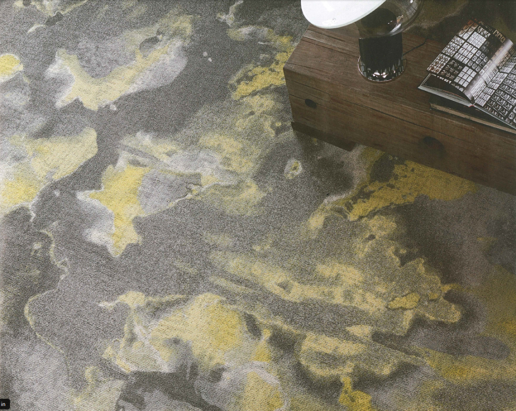 I like the watercolor effect of this Esosha carpet. Has a great modern feeling.