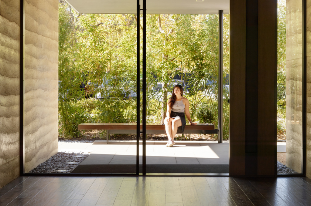 Windover Contemplative Center, inside to outside