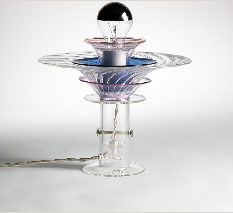 Blooms B4 A Lamp, by Bethan Laura Wood, glass and pirex table lamp