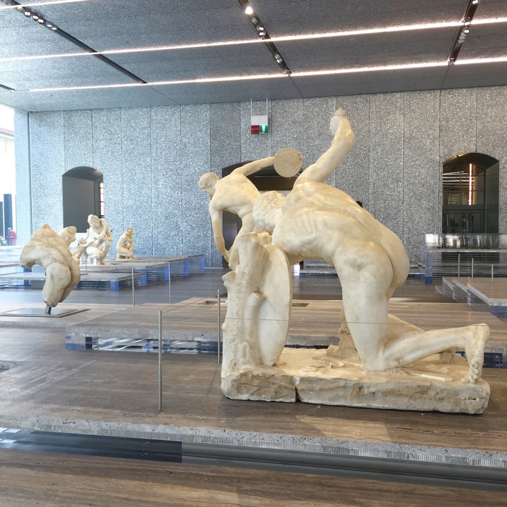 Classical sculpture at the Prada Museum, Milan