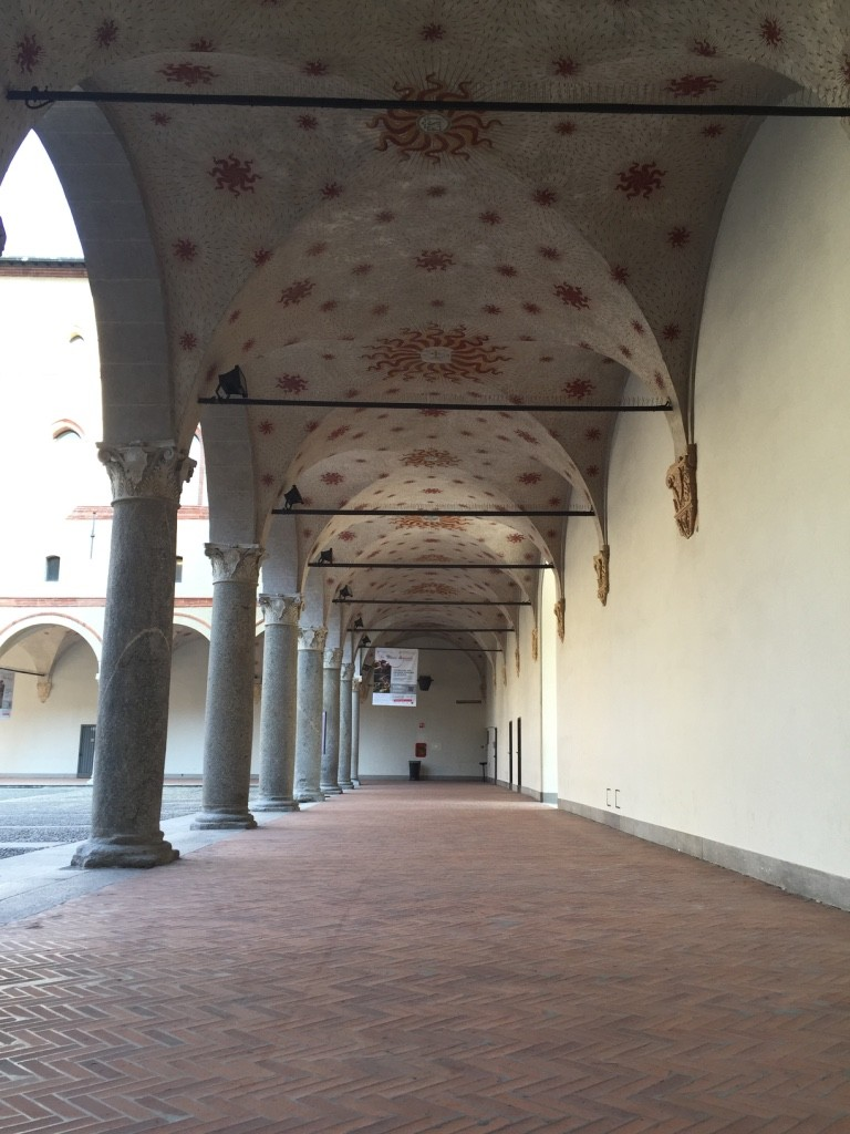 Original frescos in Sforzesco Castle.