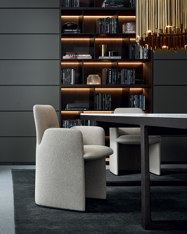 Guest arm chair and Poliform Wall system