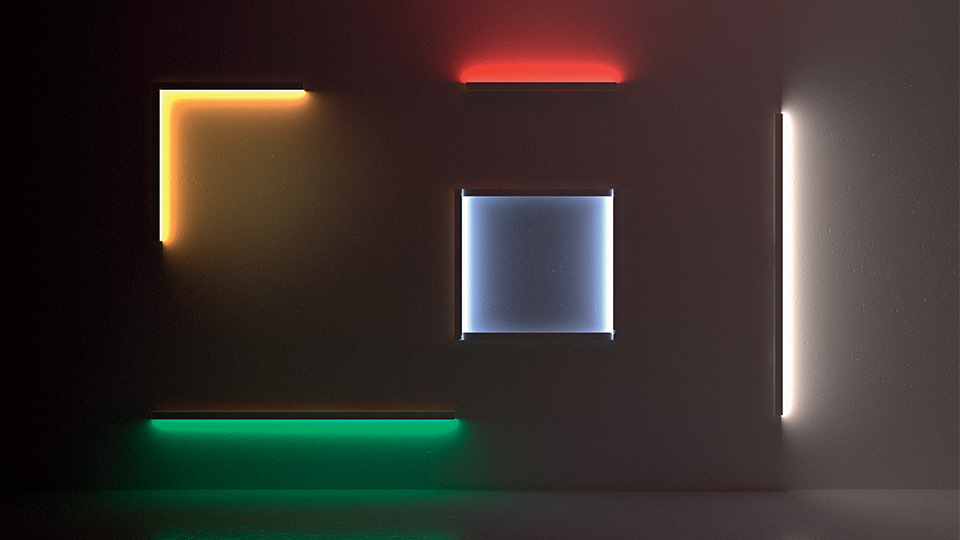 Scrittura LED source light help to define space through light, by Artemide