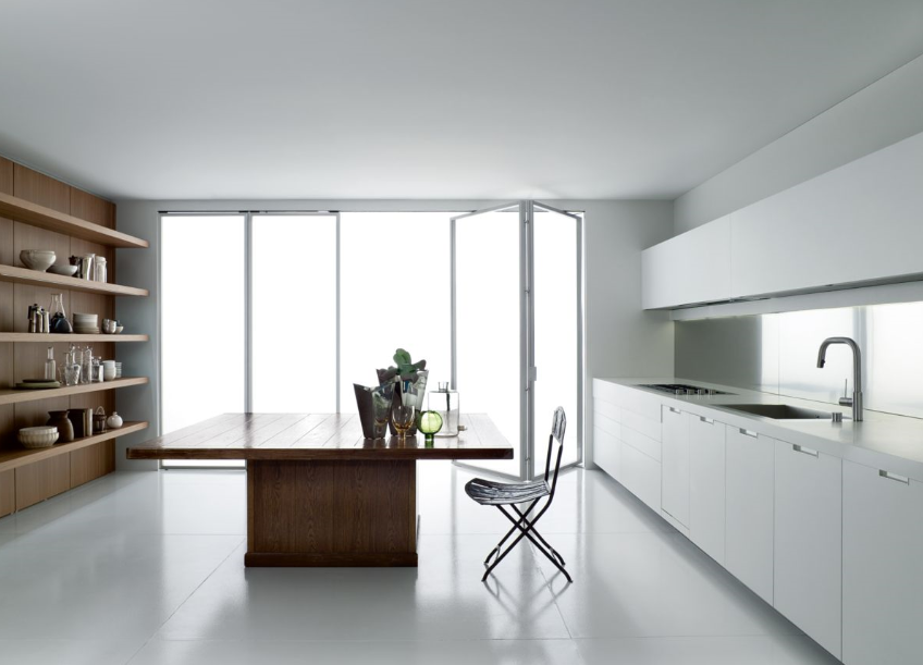 WK6 kitchen by Piero Lissoni is clean and open, and many of us would be overwhelmed by such a large kitchen!