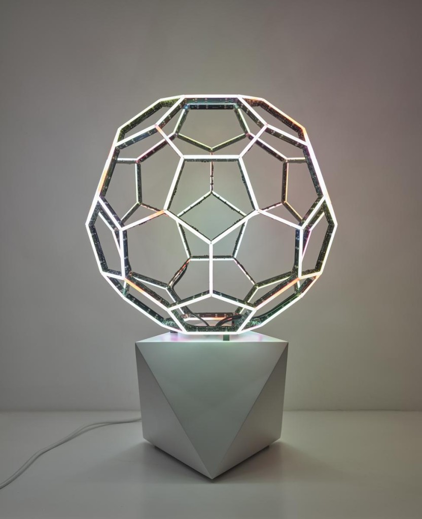 Buckyball, 2015, LEDs, custom software, electrical hardware, base #leovillareal