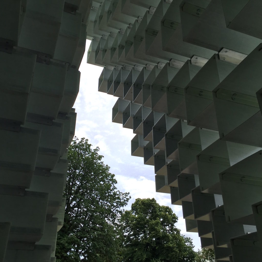 BIG, Serpentine Gallery Pavilion London entrance ceiling, Bjorn Studio