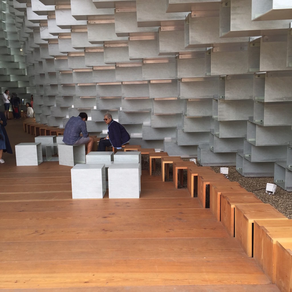 BIG's 2016 Serpentine Gallery Pavilion London seating. Bjorn Studio