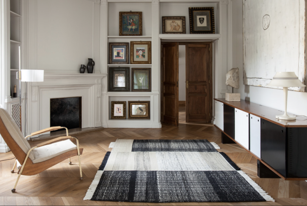 Nani Marquina's Tres rug combines design and weaving techniques into one rug.