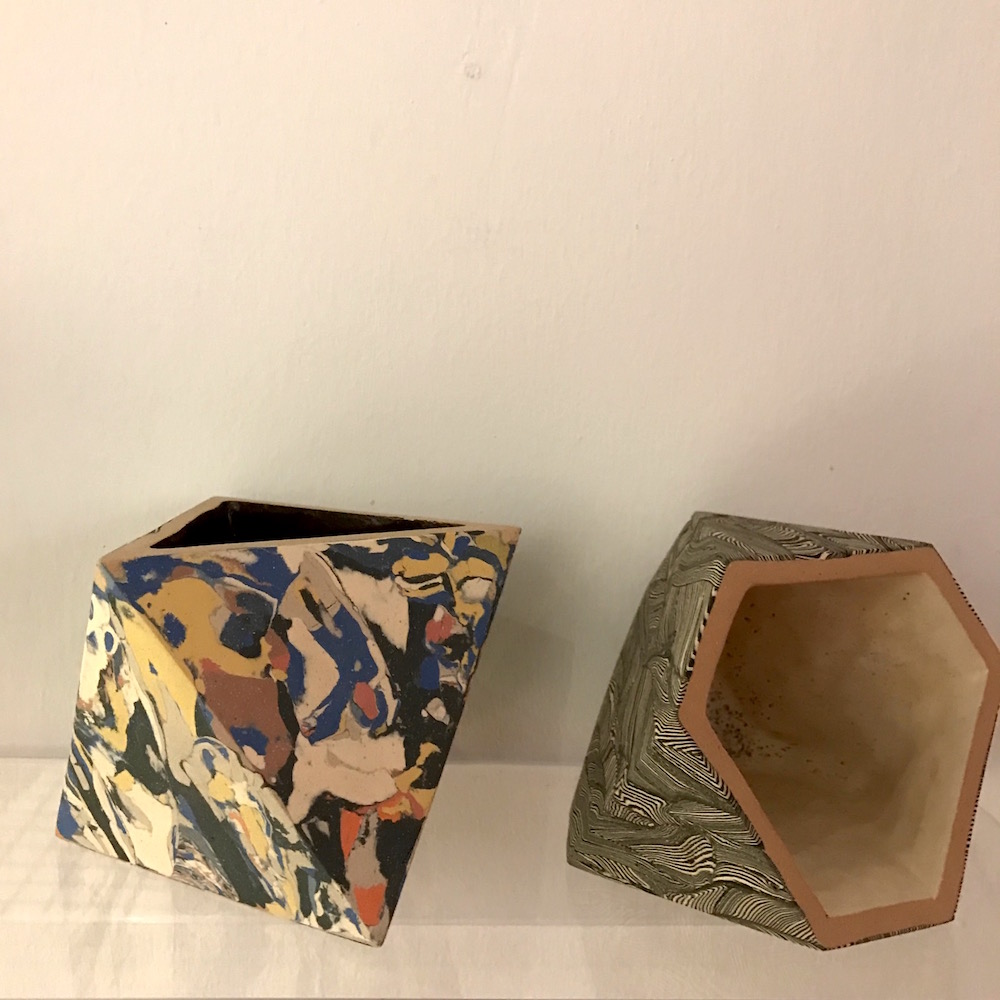 These cool sculptures by Cody Hoyt are intricately pieced ceramicsat Patrick Parrish, #bjornstudio