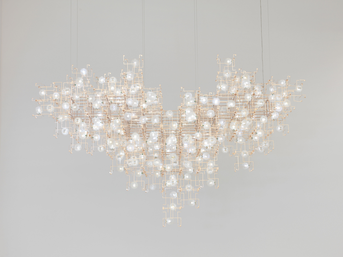 Fragile Future, Studio Drift, chandelier