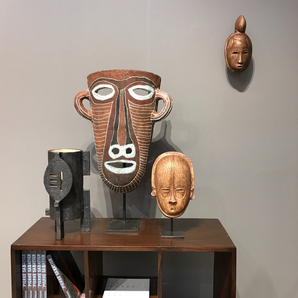 African masks at Magen H Gallery, #bjornstudio