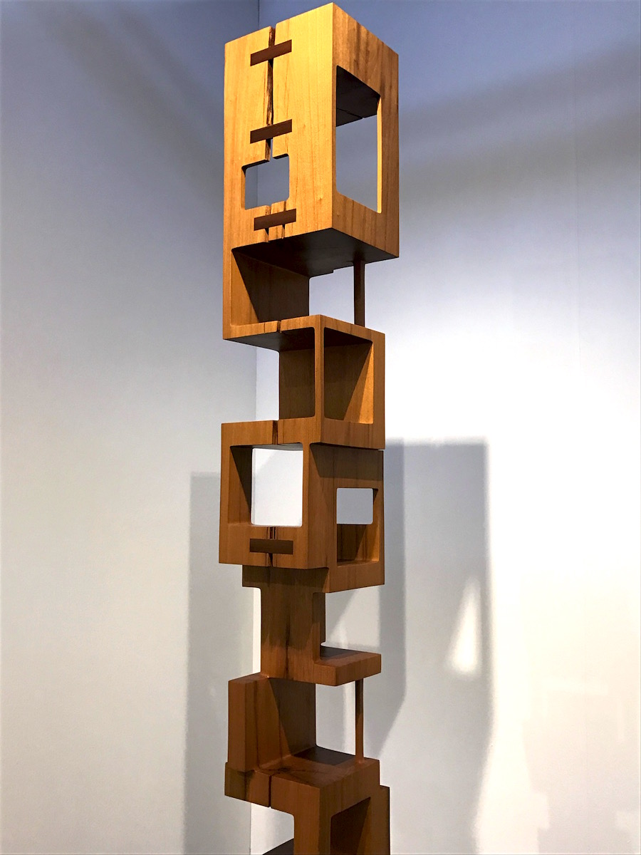 A beautiful totem carved from a single log at Cristina Grajales Gallery, #bjornstudio