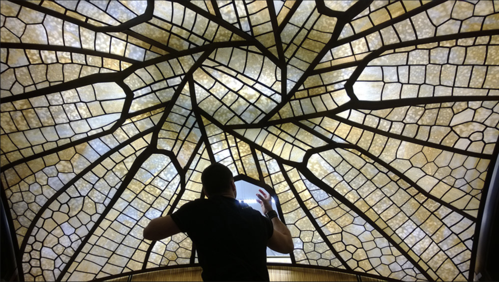 A skylight in-progress at the Hotel Alpina, Gstaad