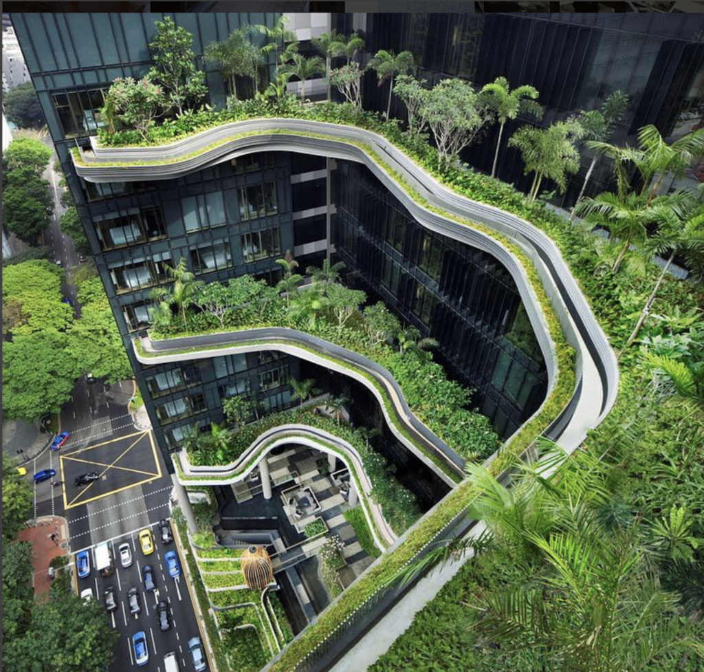 Parkroyal's take on the roof-top garden in Singapore.