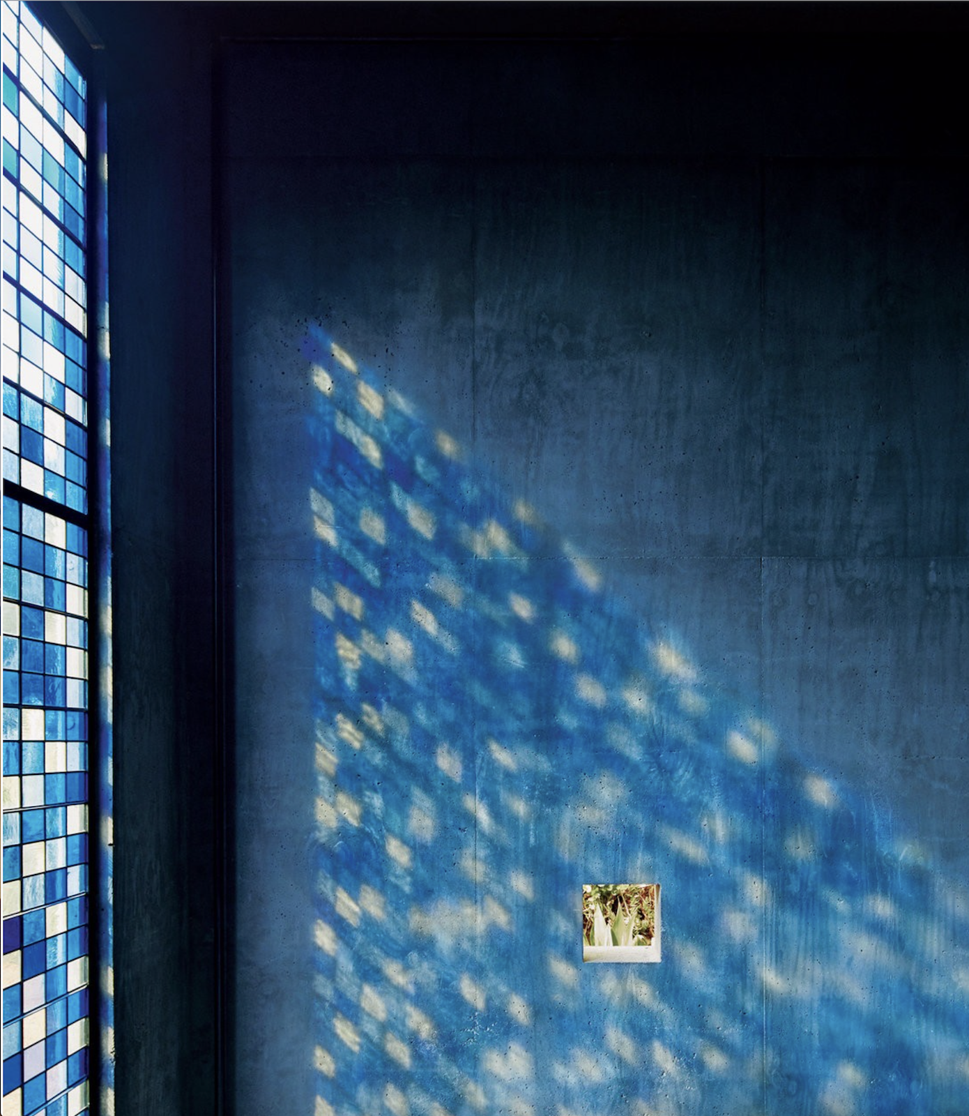 Richard Christiansen designed a spa retreat animated with pivoting stained glass doors.